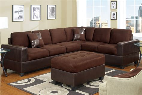 Chocolate Loveseat by Sectional Sofa Sectionals Sofas 2 Pc In Chocolate W