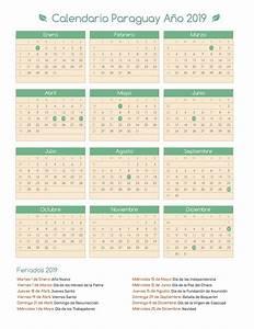 Calendario Paraguay Año 2019 Feriados
