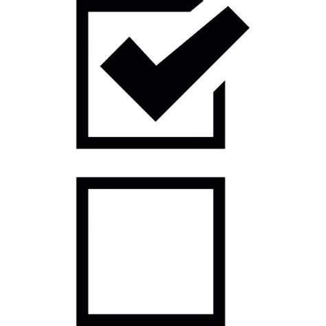Tick Box With Check Mark Icons  Free Download