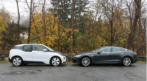 tesla model   bmw  electric car efficiency