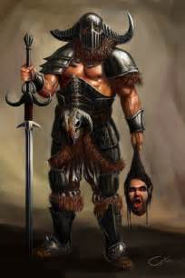 Female Barbarian Warrior Art