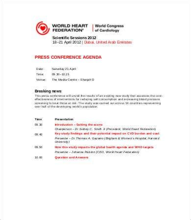 conference agenda template   word  documents