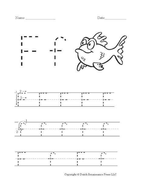 free printable letter f worksheet for preschool