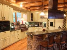 Log Cabin Kitchen Island Ideas by
