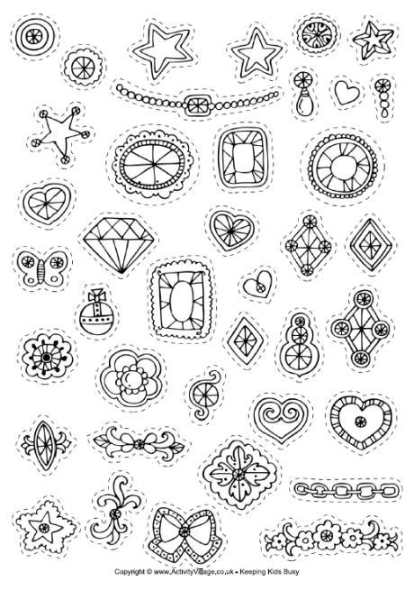decorate  crowns stickers