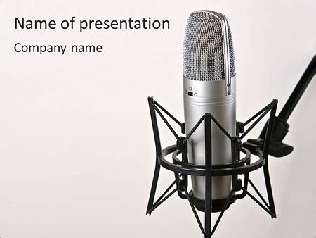 christmas microphone template microphone powerpoint template backgrounds id 0000003802