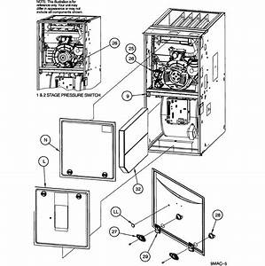 Icp Model N9mse0801716a1 Furnace  Heater  Gas Genuine Parts