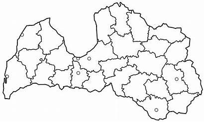 Latvia Blank Districts Karte Geography Maps Mapa