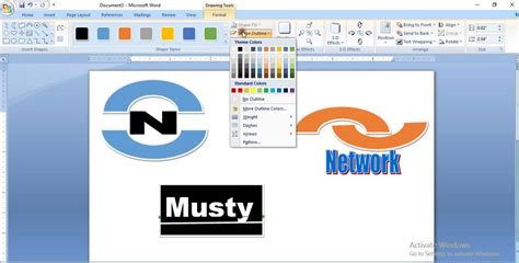 how to create or make a professional logo in microsoft word 2007 youtube