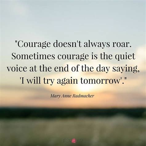 courage doesnt  roar  courage
