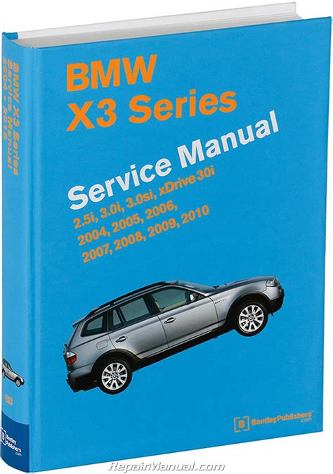 Bmw X3 M54 N52 Engines Printed Service Manual 20042010