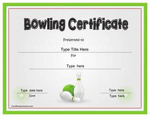 download bowling sports certificates for free formtemplate With sports certificates templates free download