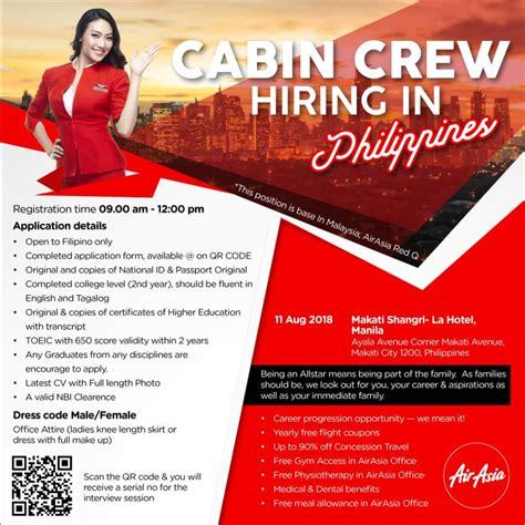 Air Cabin Crew Recruitment Air Asia Cabin Crew Recruitment 2018 Walk In