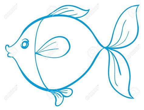 silueta de pez lineas azules fondo blanco voda