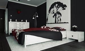 Gestaltungsideen Schlafzimmer Wände : schwarze w nde 48 wohnideen f r moderne raumgestaltung freshouse ~ Markanthonyermac.com Haus und Dekorationen