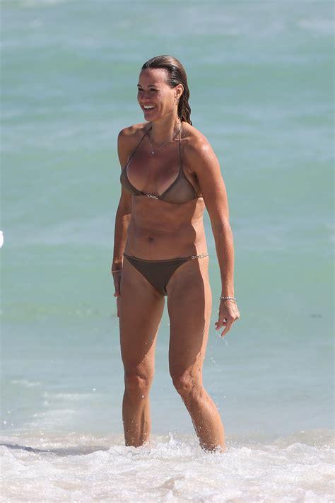 kelly bensimon   metallic bikini