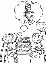 Seuss Coloring Dr Pages Happy Printable Birthday sketch template