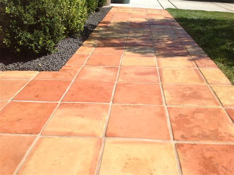 want colorful non slip mexican pavers on your walkway