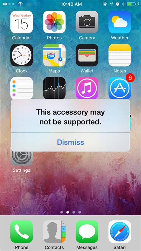 iphone this accessory may not be supported quot this accessory may not be supported quot error on iphone 7 iphon