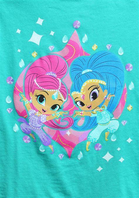 shimmer and shine l shimmer and shine twins together t shirt for girls