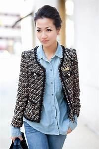 How to wear tweed jacket