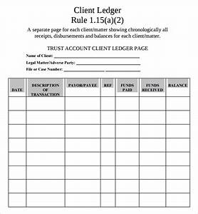 sample account ledger template 7 free documents With real estate trust account ledger template