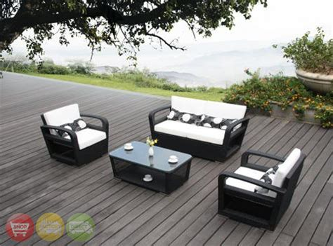 4 modern outdoor patio set seat chairs