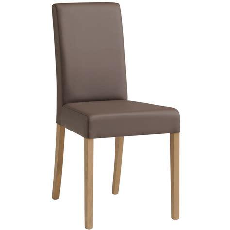 chaise de salle a manger but chaise de salle à manger contemporaine en pu gris lot de