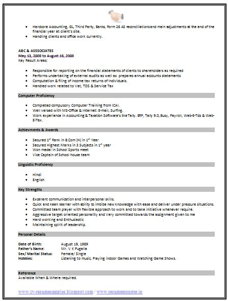 Standard Format Resume by 10000 Cv And Resume Sles With Free