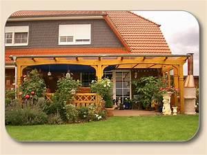 Terrassen berdachung glas vsg und holz bausatz von holzon for Holz terrassenüberdachung