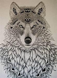 Tatouage Loup Graphique : dessin de tatouage loup the wolf pinterest dessin ~ Mglfilm.com Idées de Décoration