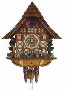Cuckoo, Clock, 8-day-movement, Chalet-style, 32cm, By, Anton, Schneider, 9