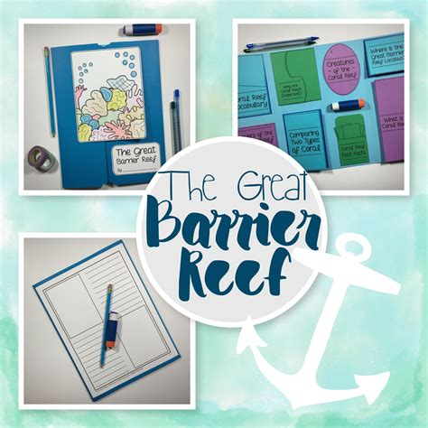great barrier reef lapbook kit edventures at home great barrier reef learning