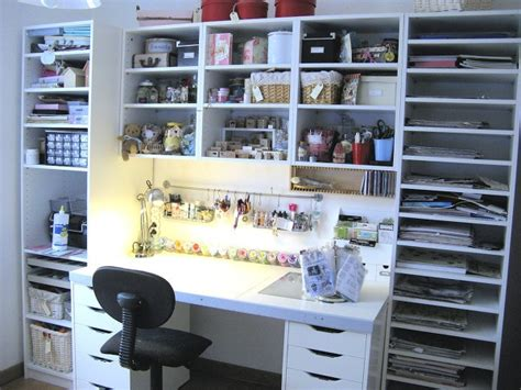 bureau scrapbooking bare ikea pax scraproom craft rooms crafts