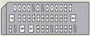 Lexus Hs250h  2012  - Fuse Box Diagram