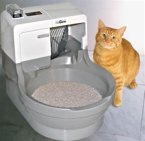 Auto Litter Box by Catgenie Self Washing Flushing Cat Litter Box Automatic