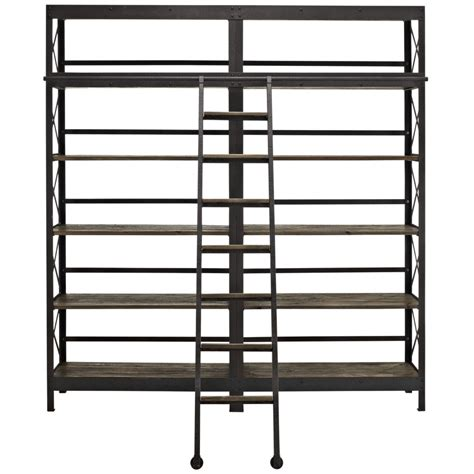 Industrial Wood Shelving Unit Brickell Collection Modern
