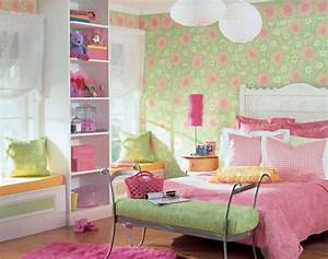 Girl Room Wallpaper Accent Wall Design Ideas For Teenager ...