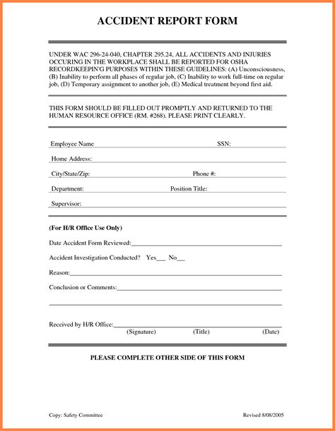 truck driver accident report form template 4 accident incident report form template progress report