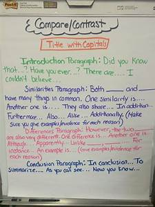Essay Transitional Words Layout And Examples Of Compare Contrast Informative