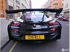 BMW i8 with Monstrous Rear Wing Stands Out in London, Has