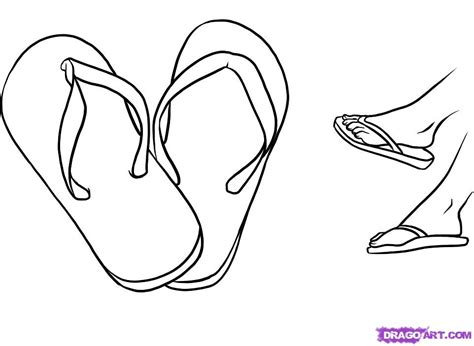 How To Draw Flip Flops, Step By Step, Fashion, Pop Culture