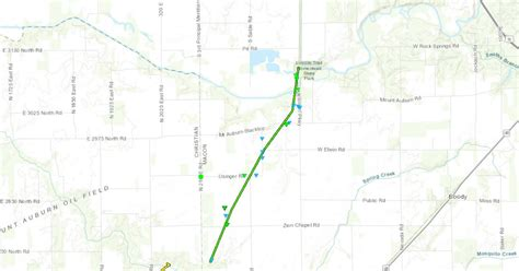 2018 Indiana Tornado Track Map