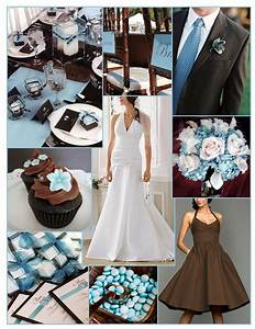 Blue and brown wedding inspiration | Brown wedding themes ...
