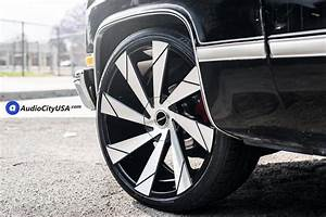 24 U2033 Strada Wheels Moto Black Machined Rims