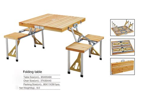 outdoor furniture folding table sets portable wood tables