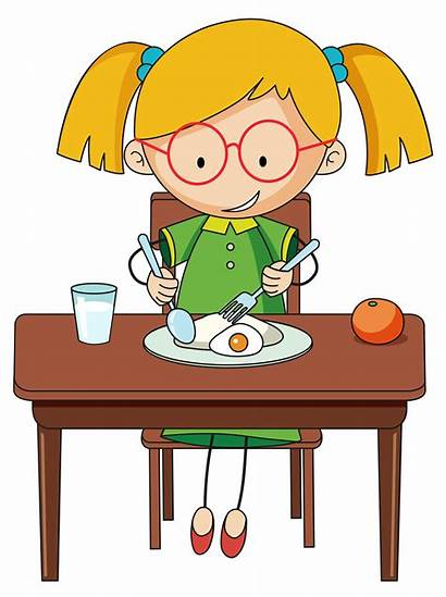 Eating Breakfast Doodle Vector Clipart Charcter Illustration