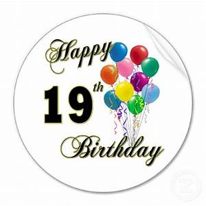 Happy 19th Birthday Clipart