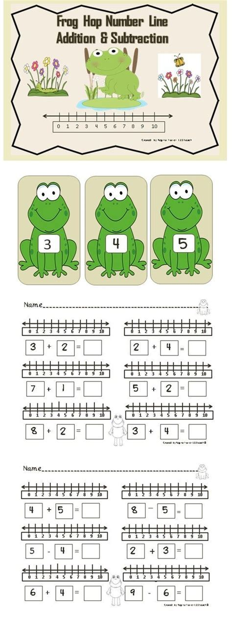 number  addition subtraction frog hop koa oa