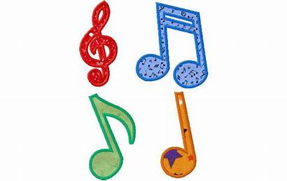 Notes Applique Designs Embroidery Musical Note Machine